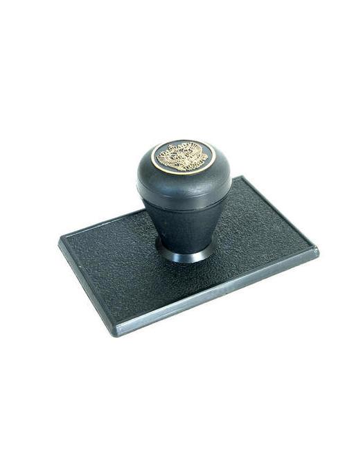 Оснастка для углового штампа 35х70 мм, (ручка «Капля»).