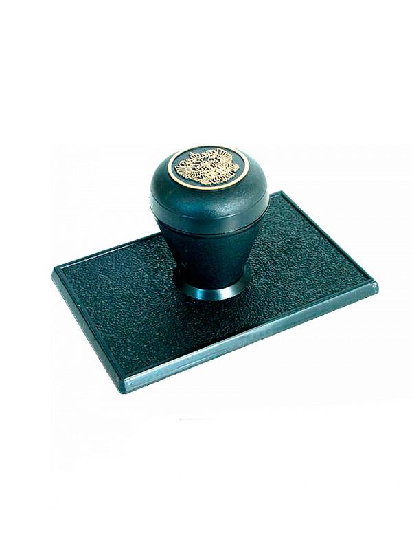 Оснастка для углового штампа 80х50 мм, (ручка «Капля»).