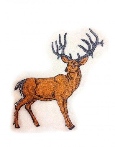 Вышивка на крое - олень
