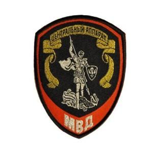 Шеврон-МВД-Центральный-аппарат,-красный-(жаккардовый)