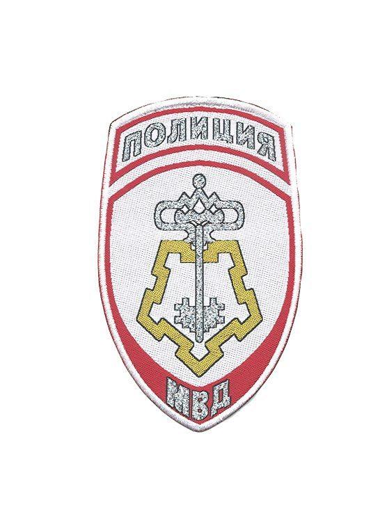 Шеврон Полиция Вневедомственная охрана рубашечный-белый (жаккардовый)