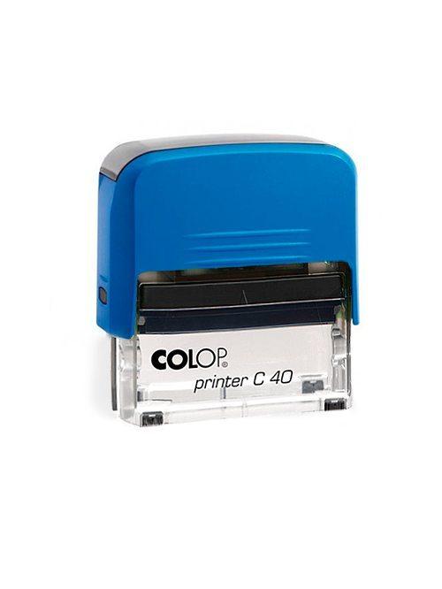 Colop Printer C40 оснастка для штампа 59х23 мм. (синяя/ прозрачная)
