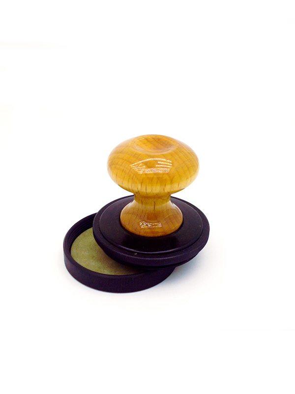 (9 ) Комбинированная настольная оснастка (дерево/металл со штемпельной подушкой ) d40мм