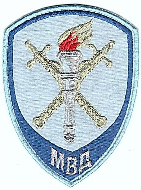 Шеврон МВД Полиция следственные подразделения МВД(вышивка металлизированными нитками) голубой