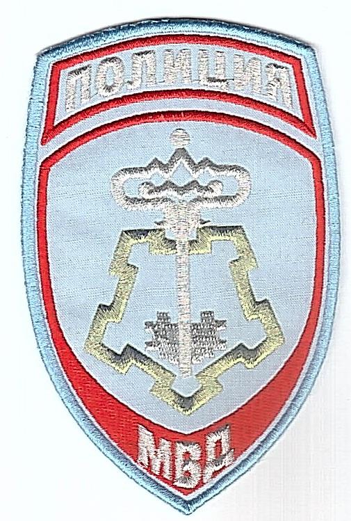 Шеврон МВД Полиция России вневедомственная охрана (вышивка металлизированными нитками) голубой