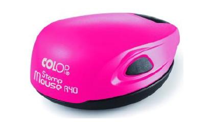 Colop Stamp Mouse R40 neon pink (неон РОЗОВЫЙ) оснастка для печати D 40 мм (АКЦИЯ)