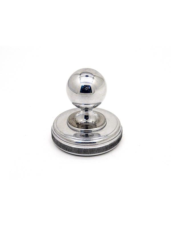Оснастка карманная «Металлическая блестящая с круглой головой» для печати d 41 мм 17б