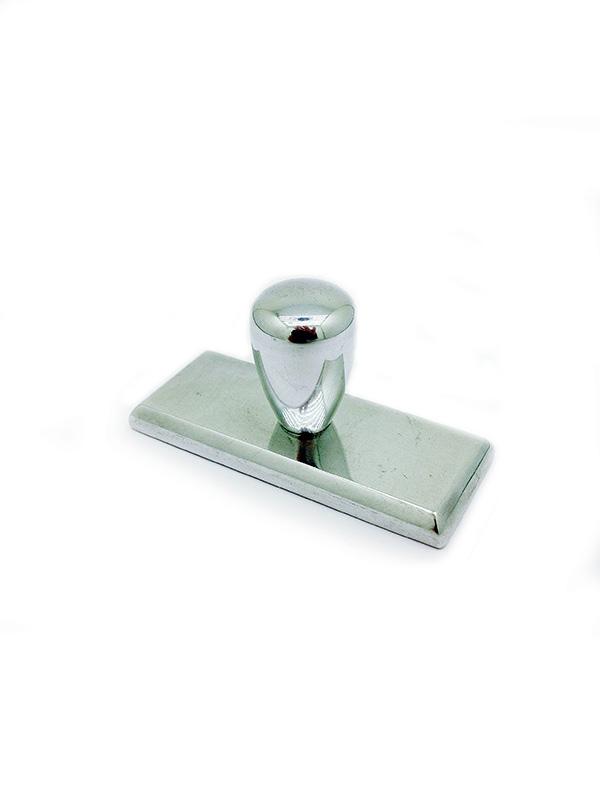 Оснастка для штампа металлическая 28х12 мм Металлическая блестящая 8б-12
