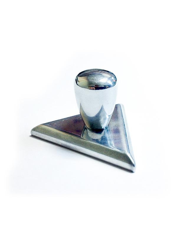 Оснастка для треугольного штампа «Металлическая Блестящая»  47х47х47 мм  (8б-15)
