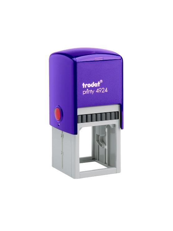 Trodat 4924 Printy Автоматическая оснастка для штампа 40х40 мм, (фиолетовая) с защитной крышкой