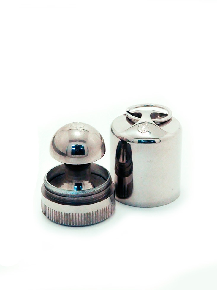 OL-21 020 MB оснастка круглая металлическая «МАТРЁШКА-брелок» d 20 мм (с подушкой).