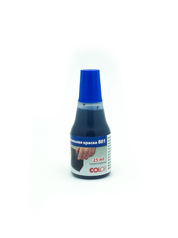 Colop 801/25 ml. Штемпельная краска на водной основе с глицерином 25 мл. (синяя)