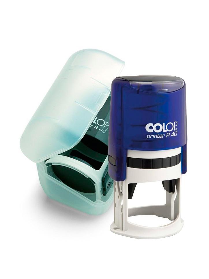 Colop Printer R40 Box Blue D40  оснастка для круглой печати с боксом (синяя).