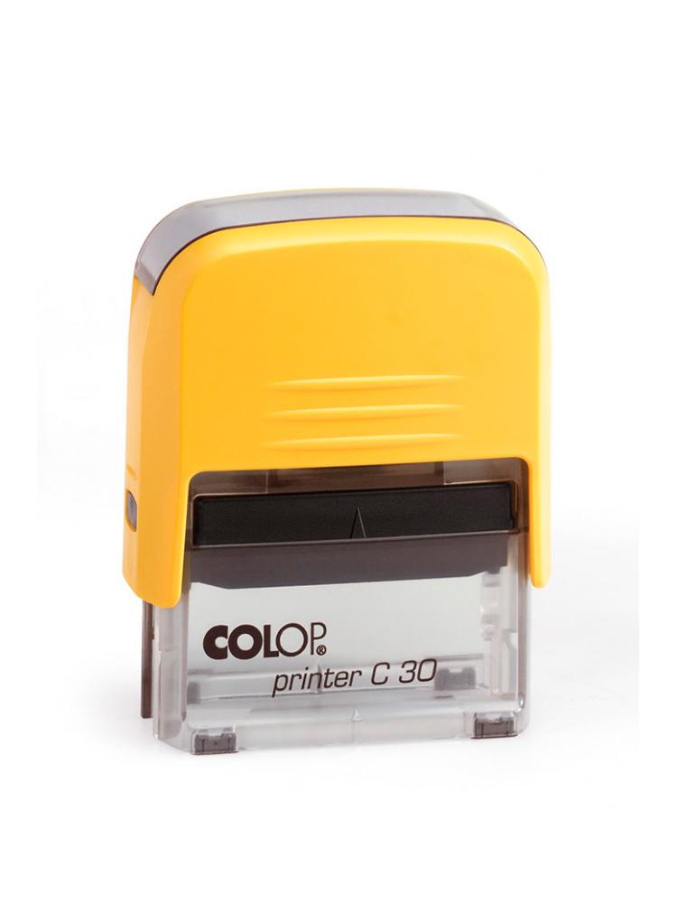 Colop Printer C30 оснастка для штампа 47х18 мм (желтая/ прозрачная).