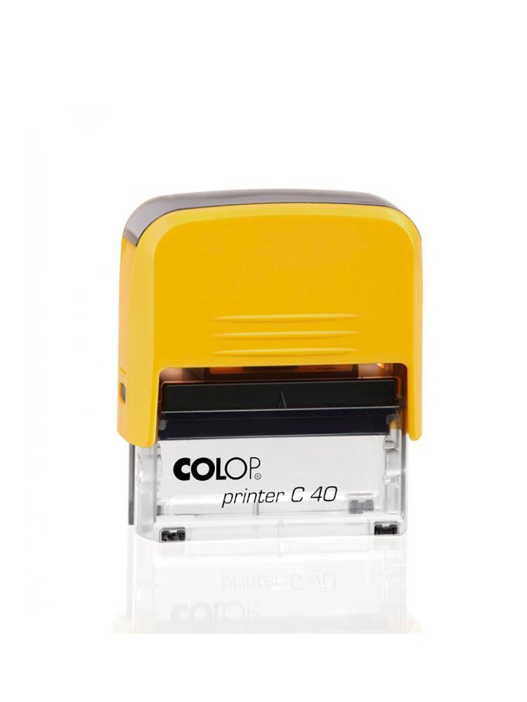 Colop Printer С40 оснастка для штампа 23х59 мм. (желтая/ прозрачная)