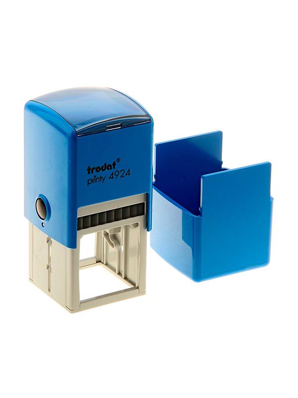 Trodat 4924 Printy Автоматическая оснастка для штампа 40х40мм, (синяя) с защитной крышкой