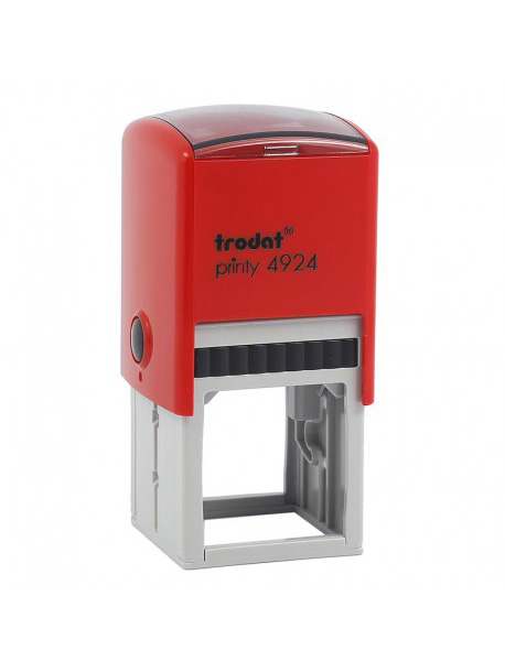 Trodat 4924 Printy Автоматическая оснастка для штампа 40х40мм (красная) с защитной крышкой