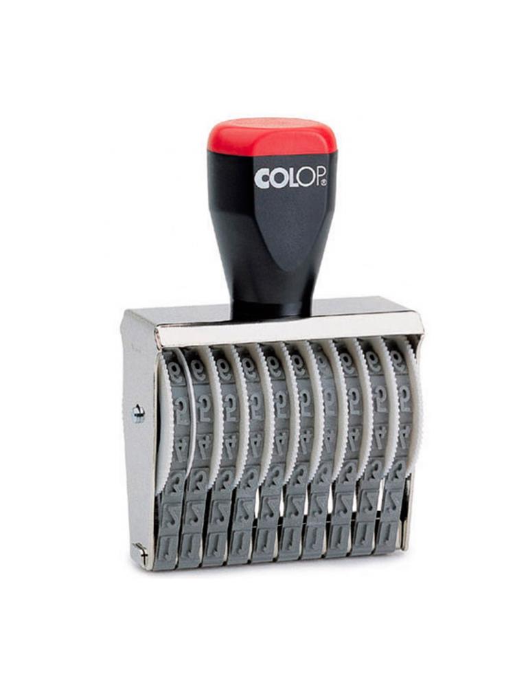 Colop 15006, ленточный нумератор, высота шрифта 15 мм, 6 разрядов.