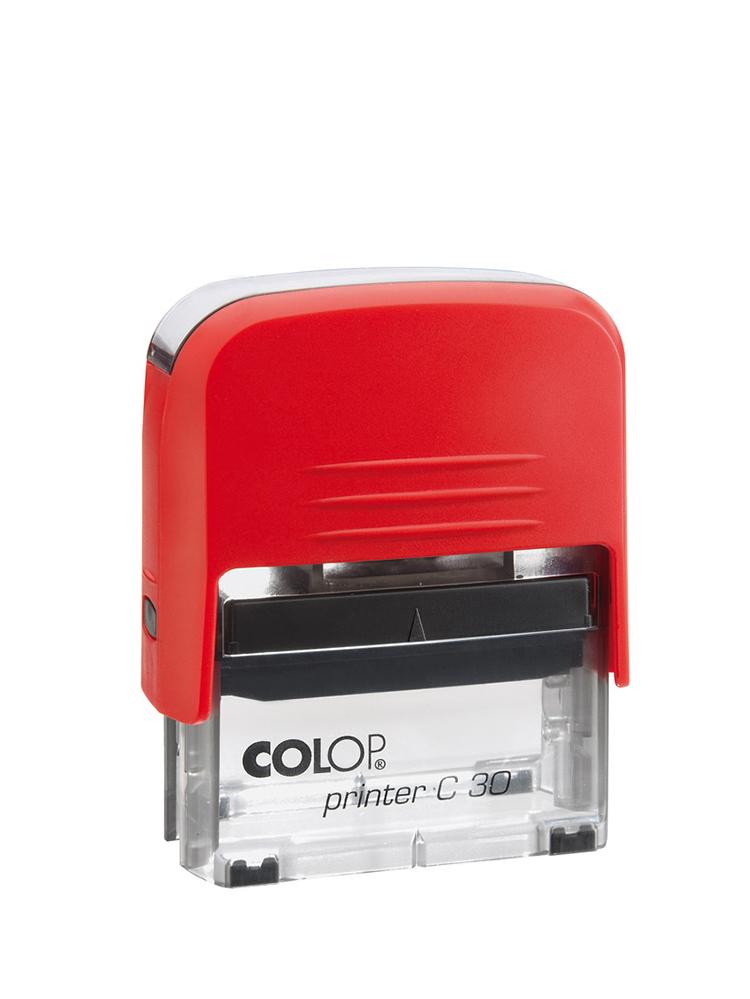 Colop Printer C30 оснастка для штампа 47х18 мм. (красная/ прозрачная)