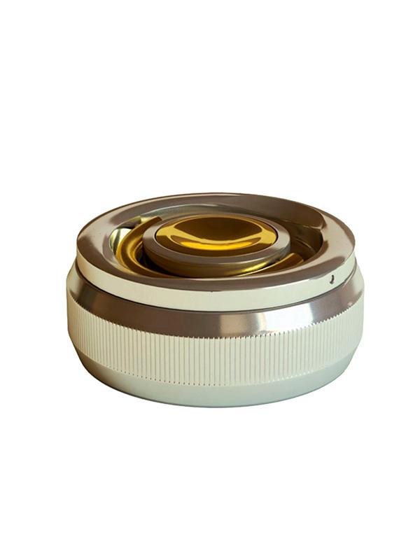 (21А-1) Оснастка для печатей «Евро-2» d 42 мм с кнопкой, с подушкой (никель, золочение)