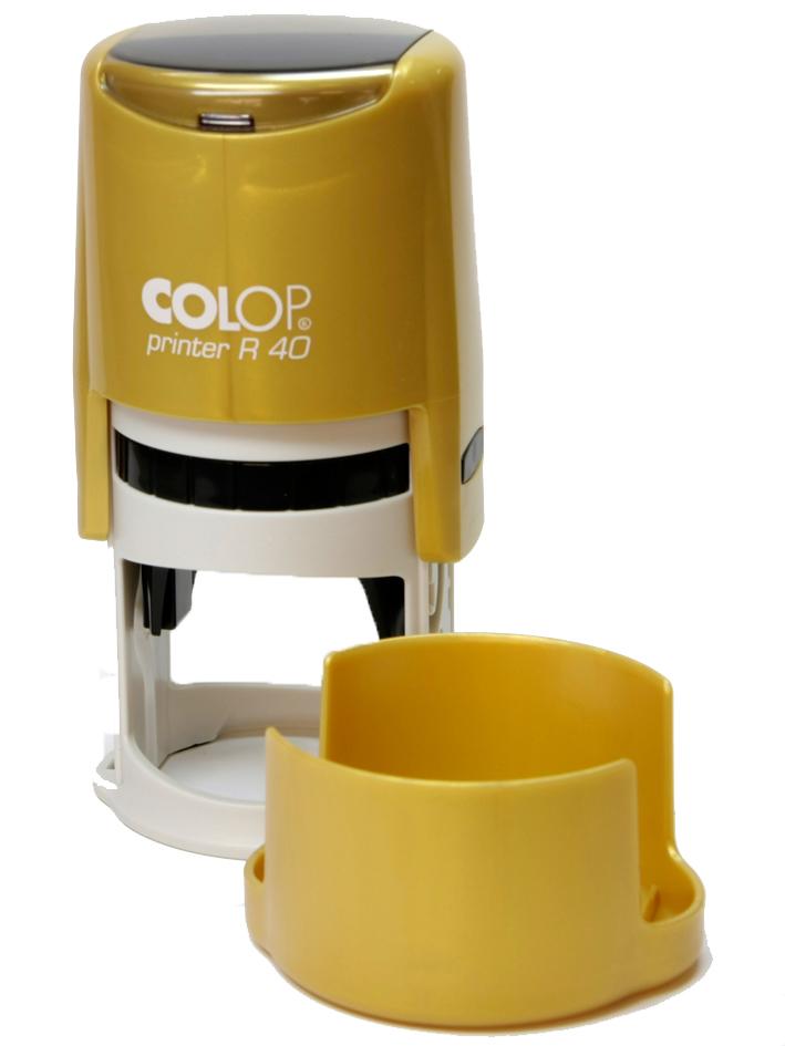 COLOP Cover Printer R40 NEW ЗОЛОТАЯ оснастка для печати D 40 мм  с защитной крышкой (золотой)