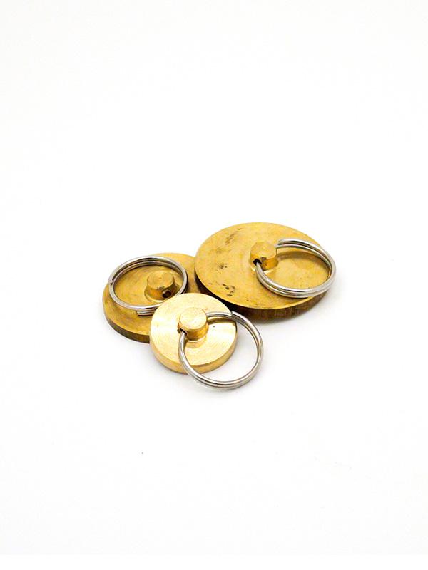 Заготовка латунная для пломбира под пластилин d25 мм, (ручка кольцо)
