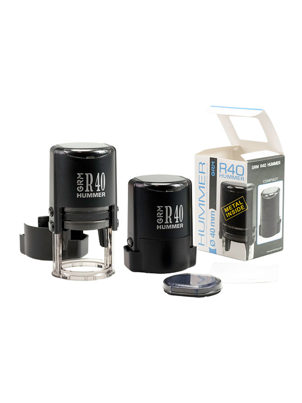 GRM R40 (46040) Plus Compact оснастка для круглой печати D 40 мм (черная)
