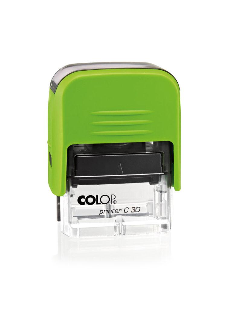 Colop Printer C30 оснастка для штампа 47х18 мм. (киви/ прозрачная)