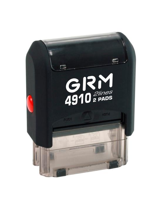 GRM 4910 2 Pads 4 lines оснастка для штампа 26х10 мм, 4 строки