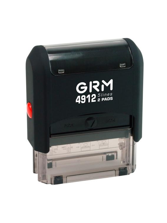 GRM 4912 2 Pads оснастка для штампа 48х18 мм, 5 строк, 2 штемпельные подушки