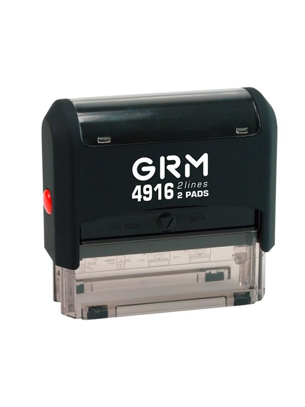 GRM 4916 2 Pads 2 строки оснастка для штампа 69х10 мм