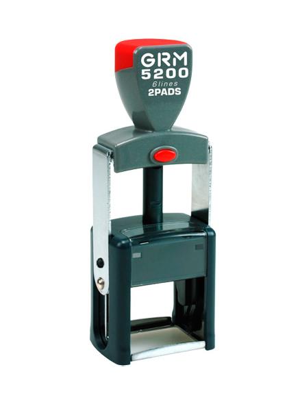 GRM 5200 2 Pads металлическая оснастка для штампа 42х25 мм, 6 строк, 2 штемпельные подушки
