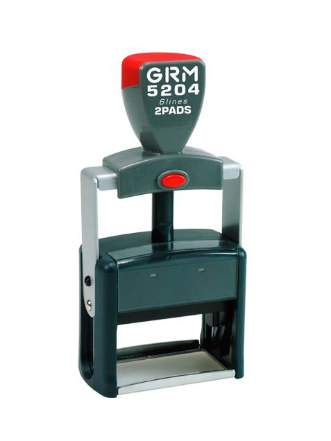 GRM 5204 2 Pads металлическая оснастка для штампа 56х26мм, 8 строк, 2 штемпельные подушки