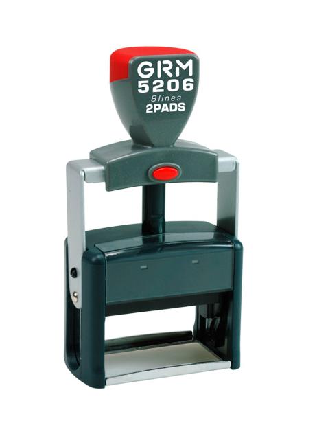GRM 5206 2 Pads металлическая оснастка для штампа 56х33 мм, 8 строк, 2 штемпельные подушки