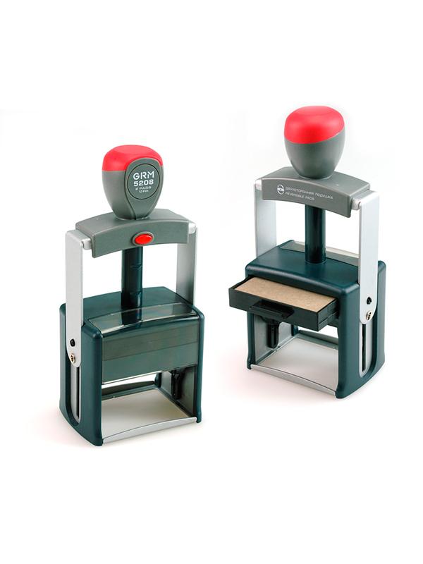 GRM 5208 2 Pads металлическая оснастка для штампа 68х47мм, 12 строк, 2 штемпельные подушки