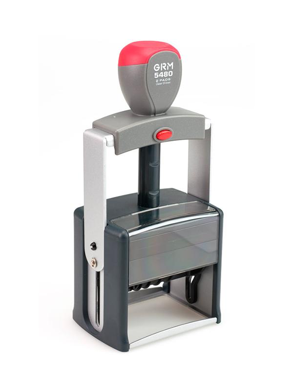 GRM 5480 2 Pads металлопластик датер со свободным полем  68х47мм, 8 строк, 2 штемпельные подушки, до 2021г