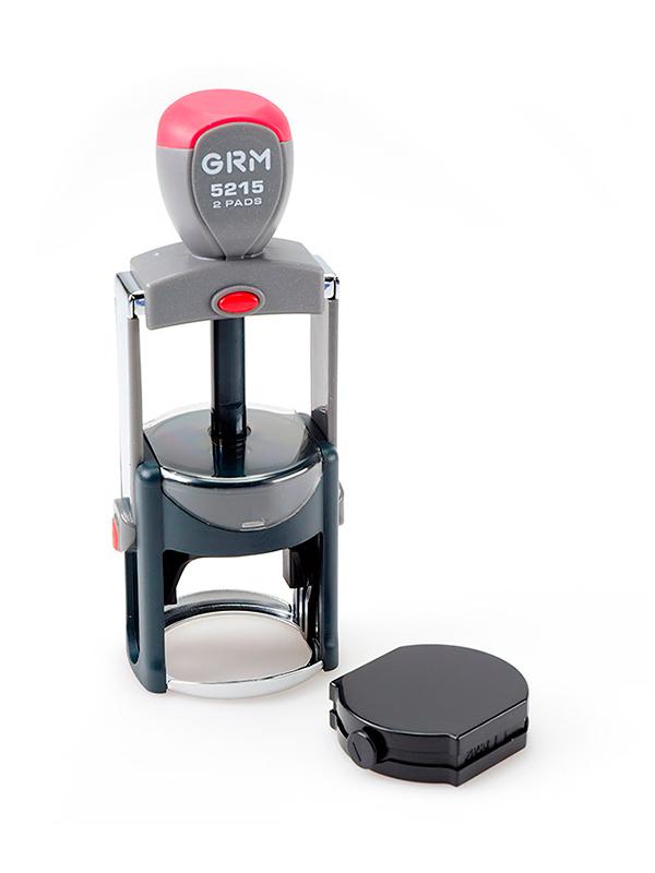 GRM 5215 2 Pads Metal металлическая оснастка для печатей D 45мм с дополнительной подушкой.
