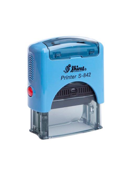 Shiny S-842 New Printer оснастка для штампа 38 х14 мм (синяя)
