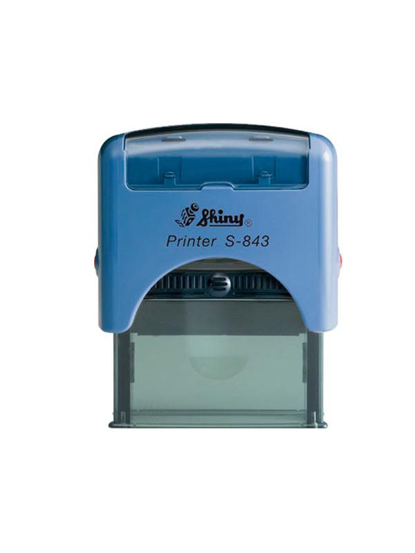 Shiny S-843 New Printer оснастка для штампа 47х18 мм (синяя)