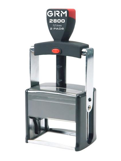 GRM 2800 2 Pads металлическая оснастка для штампа 68х49 мм, 12 строк, 2 штемпельные подушки