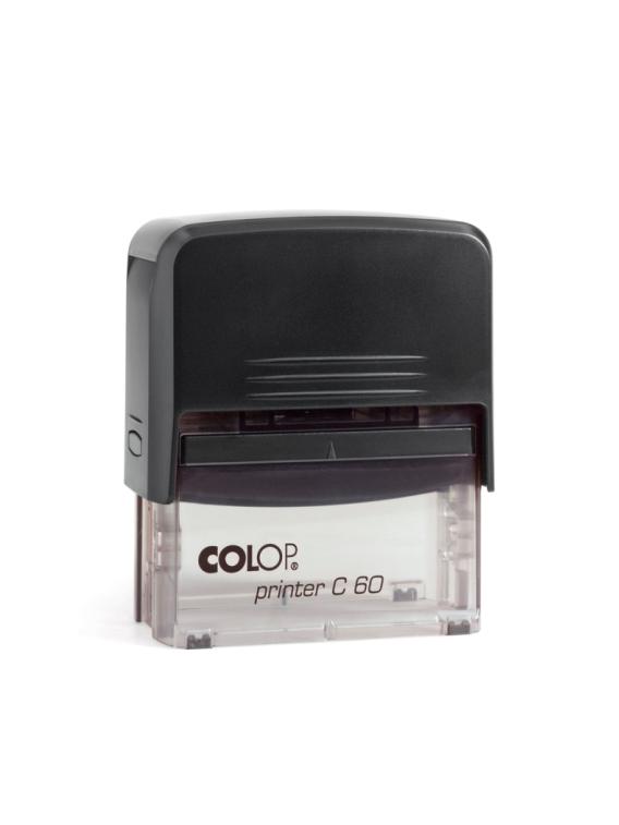 Colop Printer C60 оснастка автоматическая для штампа 76х37 мм. (черная/ прозрачная).