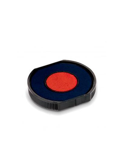 Colop E/R40/2 двухцветная (синяя, красная) сменная штемпельная подушка для Colop Printer R40, Colop R40 Dater. в центре d 24мм