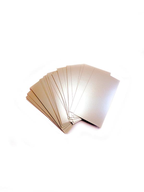 N13 Choromolux Color картон для визиток односторонний, 800 листов, 5х9см, (шампань).