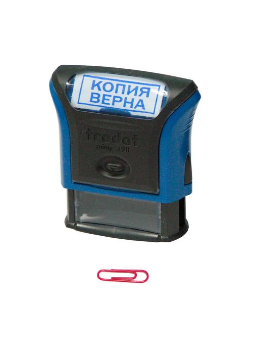 Trodat  4911 Р3 «КОПИЯ ВЕРНА» готовый штамп 38х14 мм. (серый)