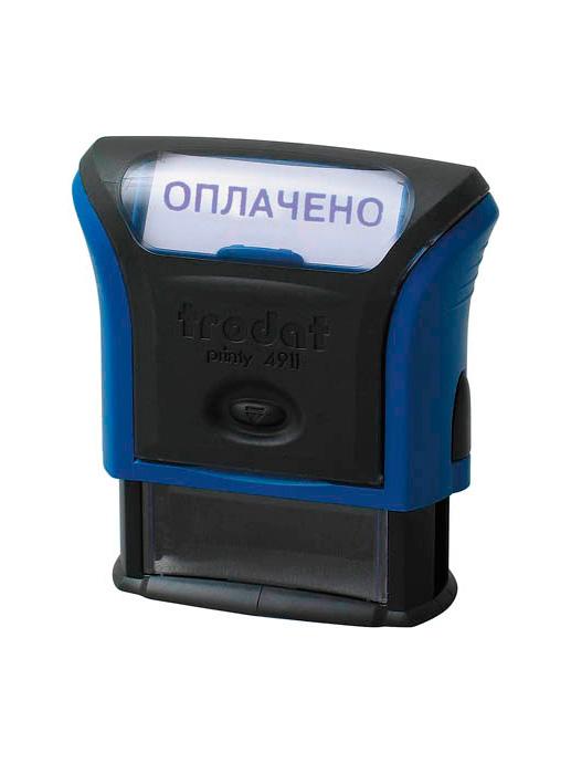 Trodat 4911 Р3 «ОПЛАЧЕНО» готовый штамп 38х14 мм, (серый)