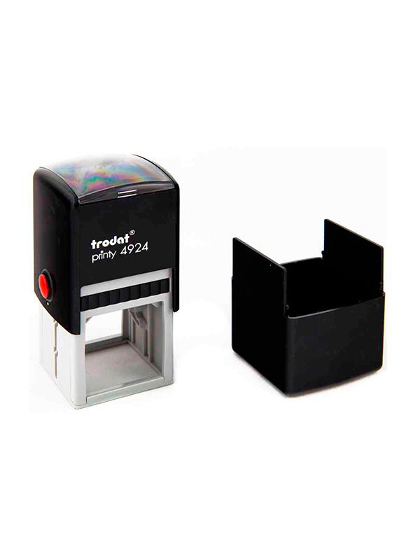 Trodat 4924 Printy Автоматическая оснастка для штампа 40х40мм (черная) с защитной крышкой.
