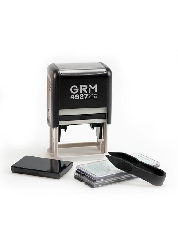 GRM 4927 Plus самонабоный штамп 10 строк 60×40 мм в блистере 2 кассы