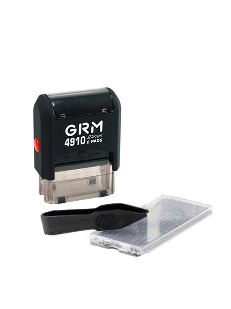 GRM 4910 (10) 3 lines самонаборный штамп 26×12 мм, 1 касса, 3  строки