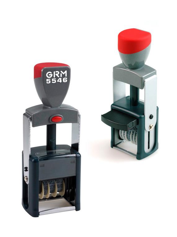 GRM 5546 (2106) металлический нумератор с штемпельной подушкой, 6 разрядов