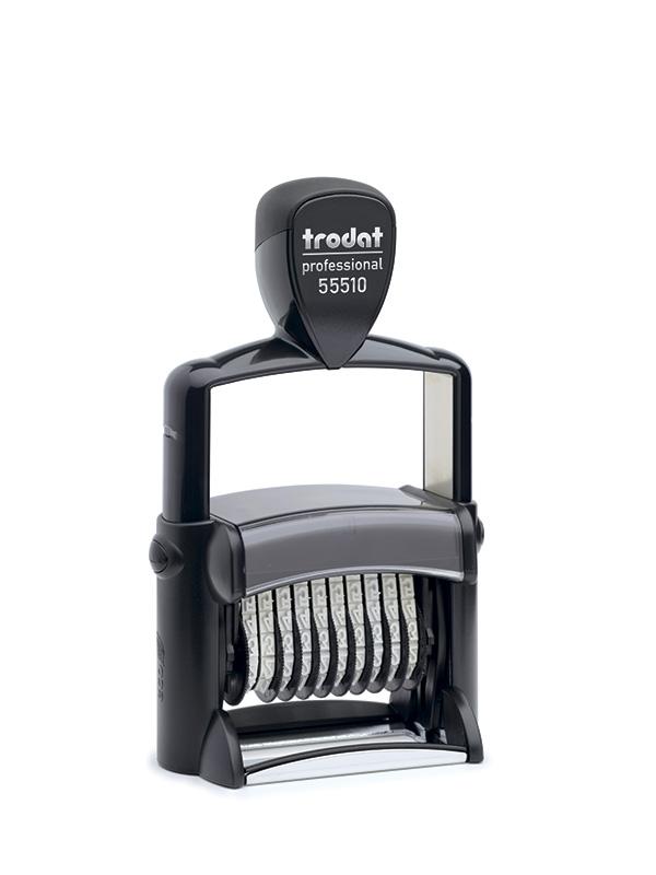 Trodat 55510  Металлический нумератор 10 разрядов, высота шрифта 5 мм